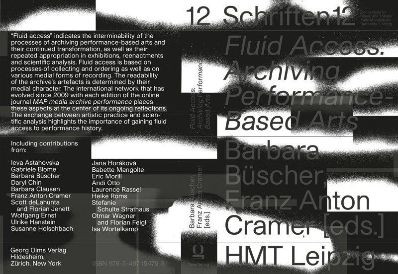 Neuerscheinung/ Out now: Fluid Access: Archiving Performance-Based Arts